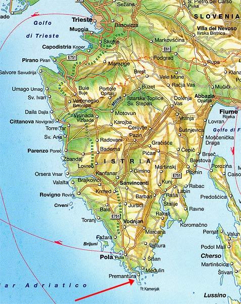 Istrien Landkarte